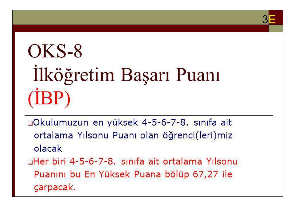 OKS-8 İlköğretim Başarı Puanı (İBP)