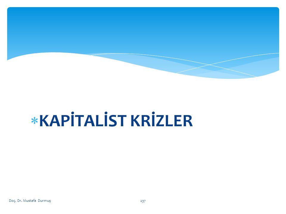 KAPİTALİST KRİZLER Doç. Dr. Mustafa Durmuş