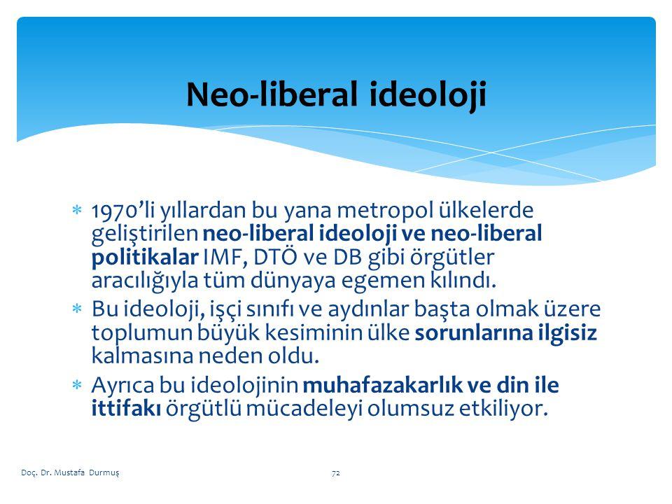 Neo-liberal ideoloji