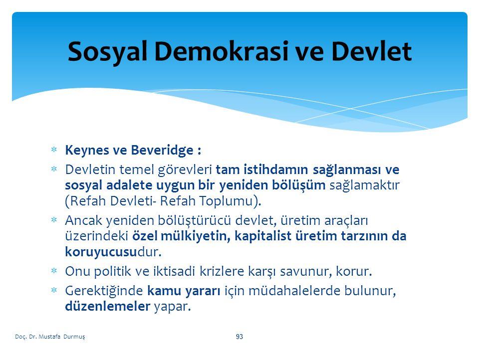 Sosyal Demokrasi ve Devlet