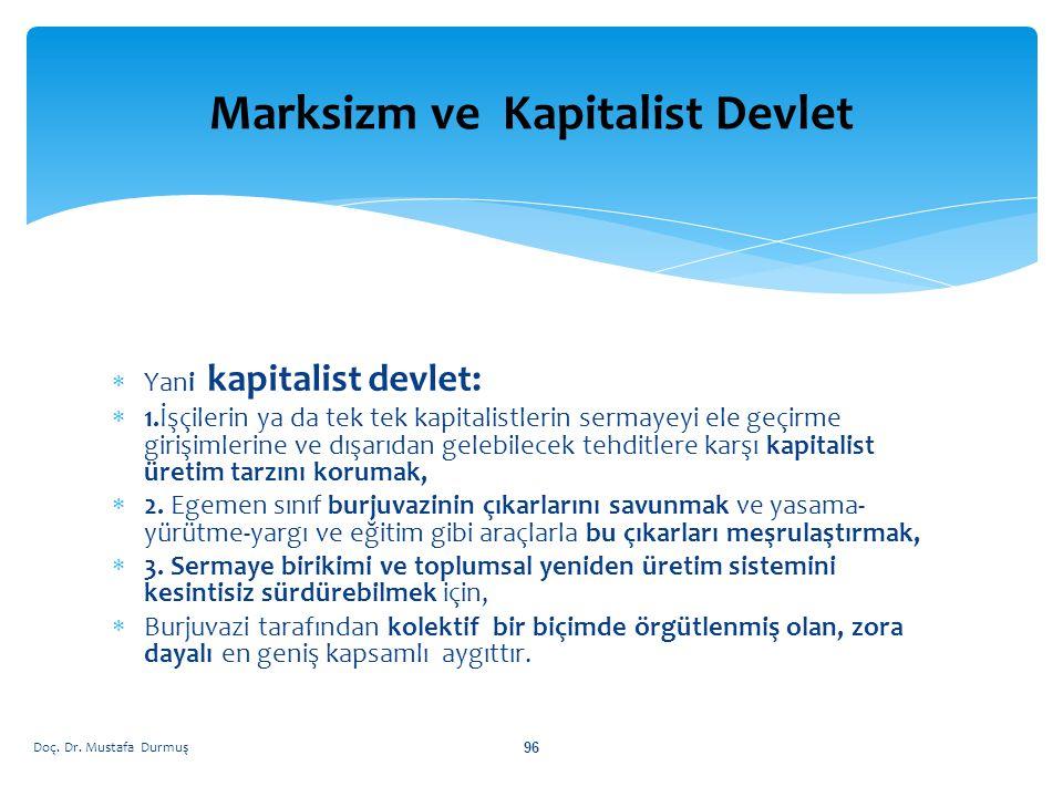 Marksizm ve Kapitalist Devlet