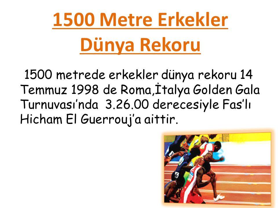 1500 Metre Erkekler Dünya Rekoru