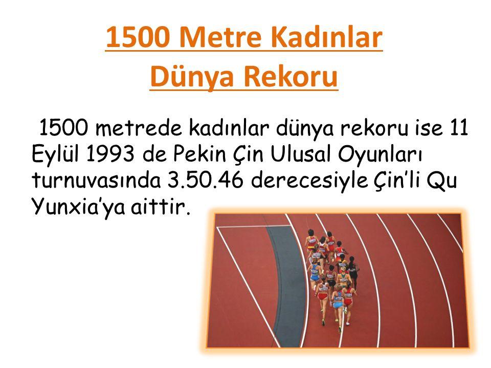 1500 Metre Kadınlar Dünya Rekoru