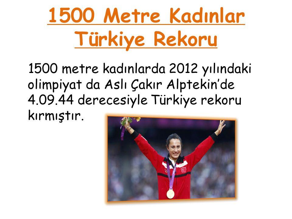 1500 Metre Kadınlar Türkiye Rekoru