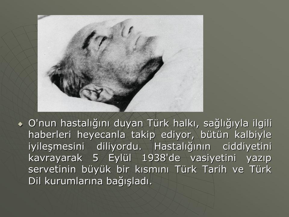 O nun hastalığını duyan Türk halkı, sağlığıyla ilgili haberleri heyecanla takip ediyor, bütün kalbiyle iyileşmesini diliyordu.