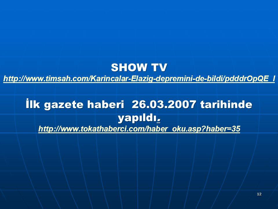 SHOW TV http://www. timsah