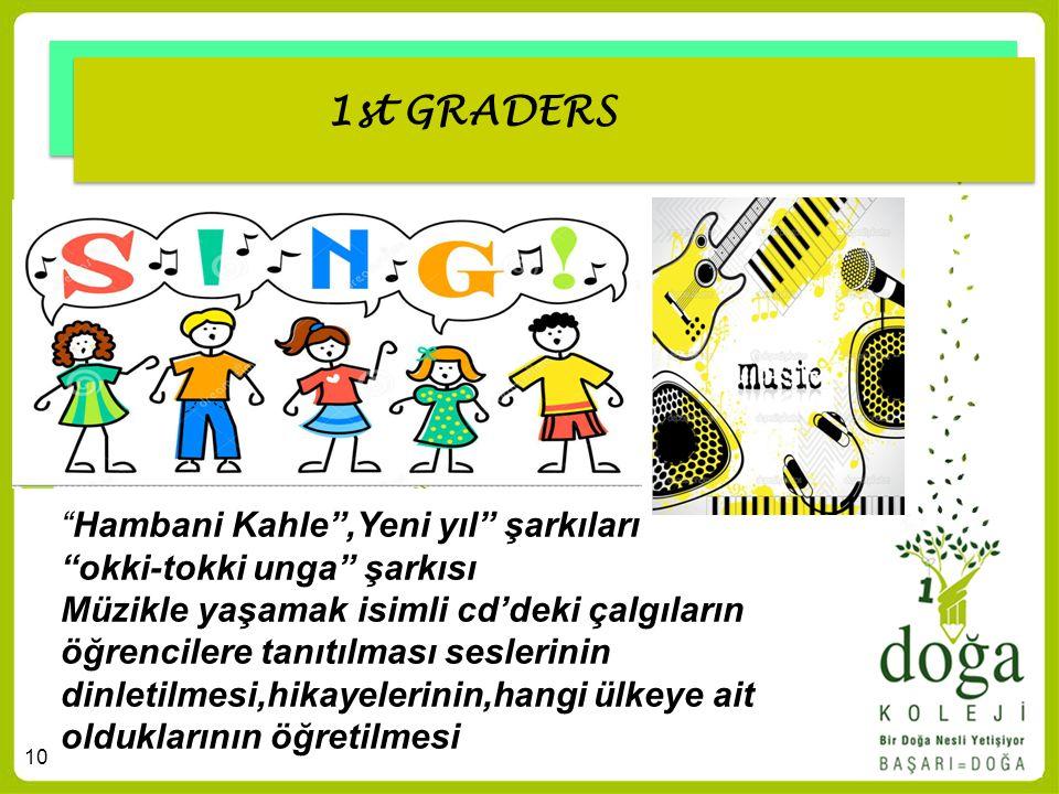 1st GRADERS Hambani Kahle ,Yeni yıl şarkıları