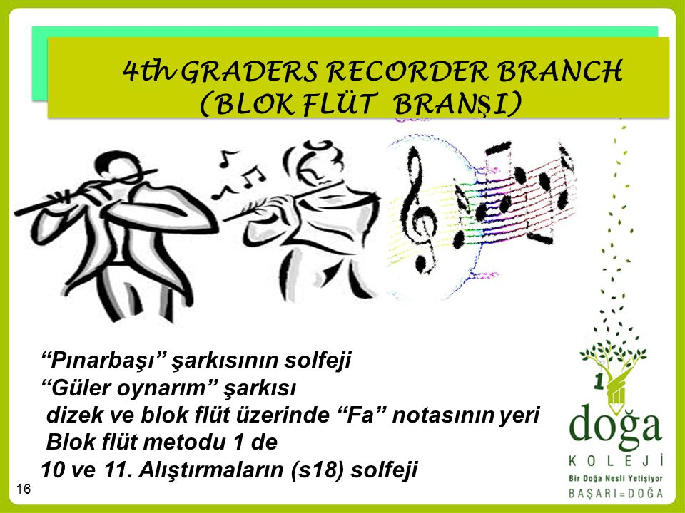 4th GRADERS RECORDER BRANCH