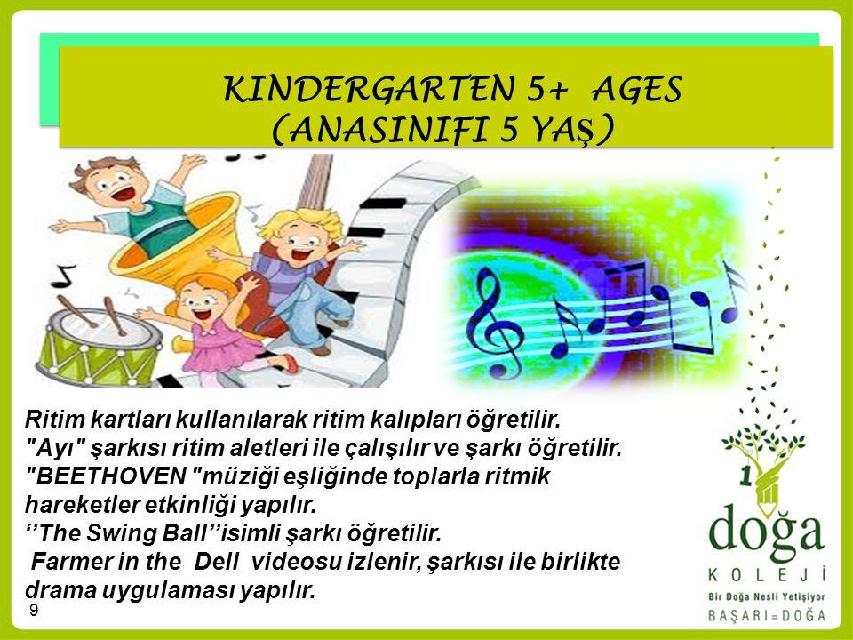 KINDERGARTEN 5+ AGES (ANASINIFI 5 YAŞ)