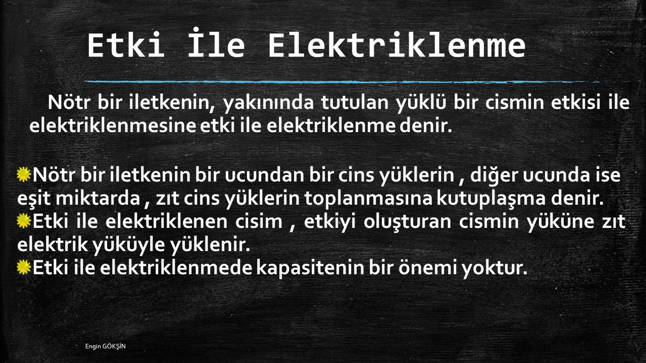 Etki İle Elektriklenme