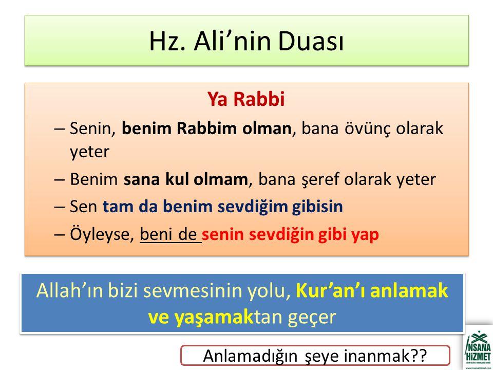 Hz. Ali'nin Duası Ya Rabbi