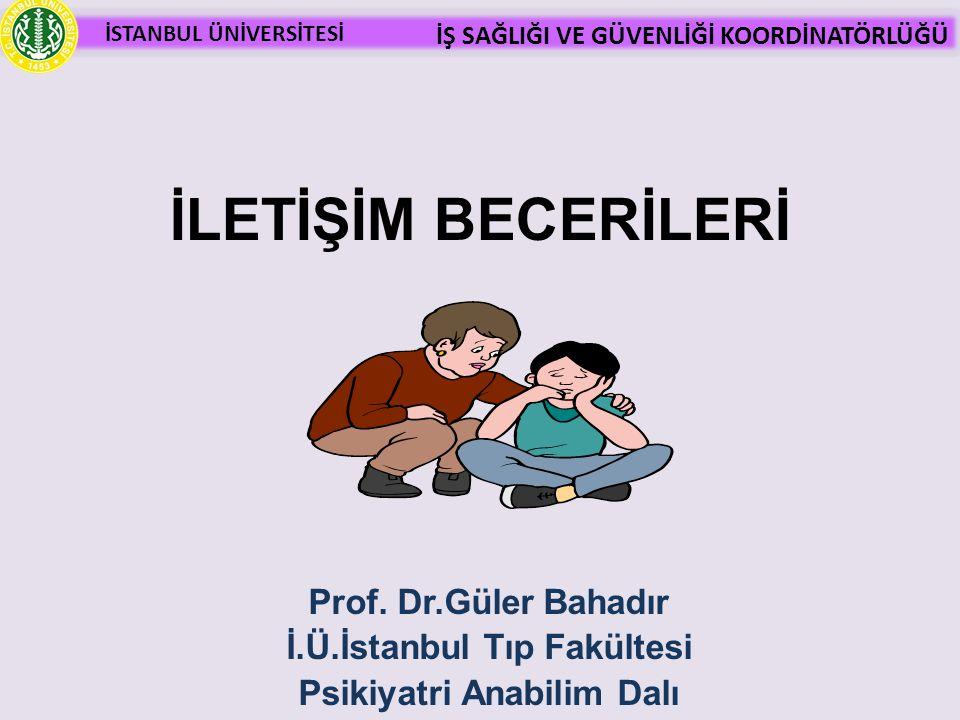 İ.Ü.İstanbul Tıp Fakültesi Psikiyatri Anabilim Dalı