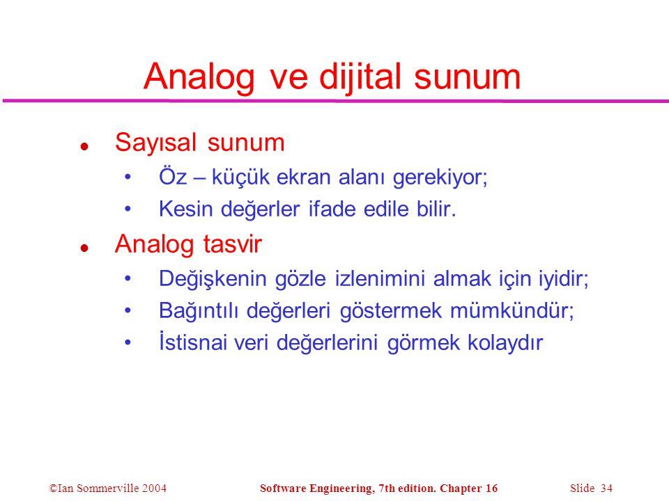Analog ve dijital sunum