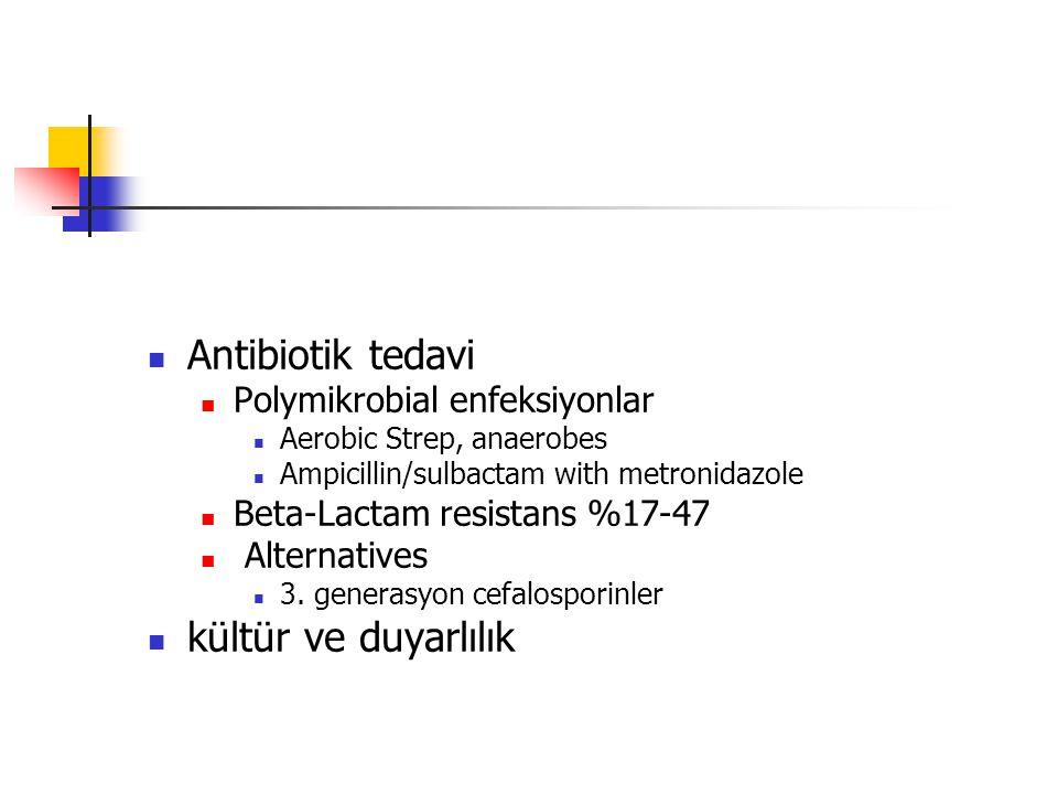 Antibiotik tedavi kültür ve duyarlılık Polymikrobial enfeksiyonlar