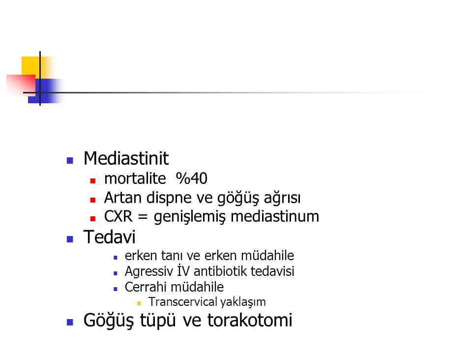 Göğüş tüpü ve torakotomi
