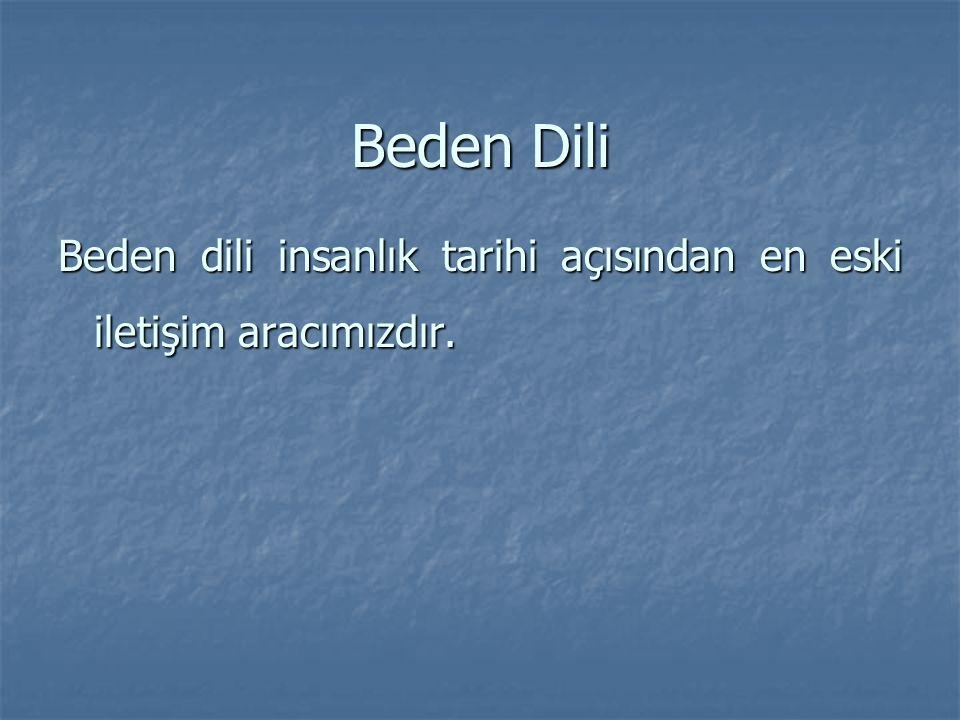 Beden Dili Beden dili insanlık tarihi açısından en eski iletişim aracımızdır.