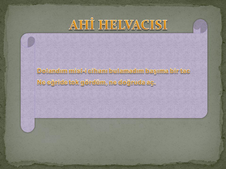 AHİ HELVACISI