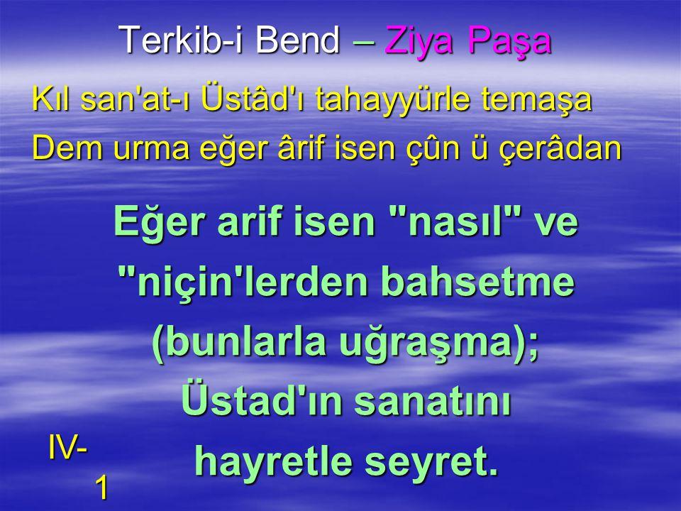Terkib-i Bend – Ziya Paşa