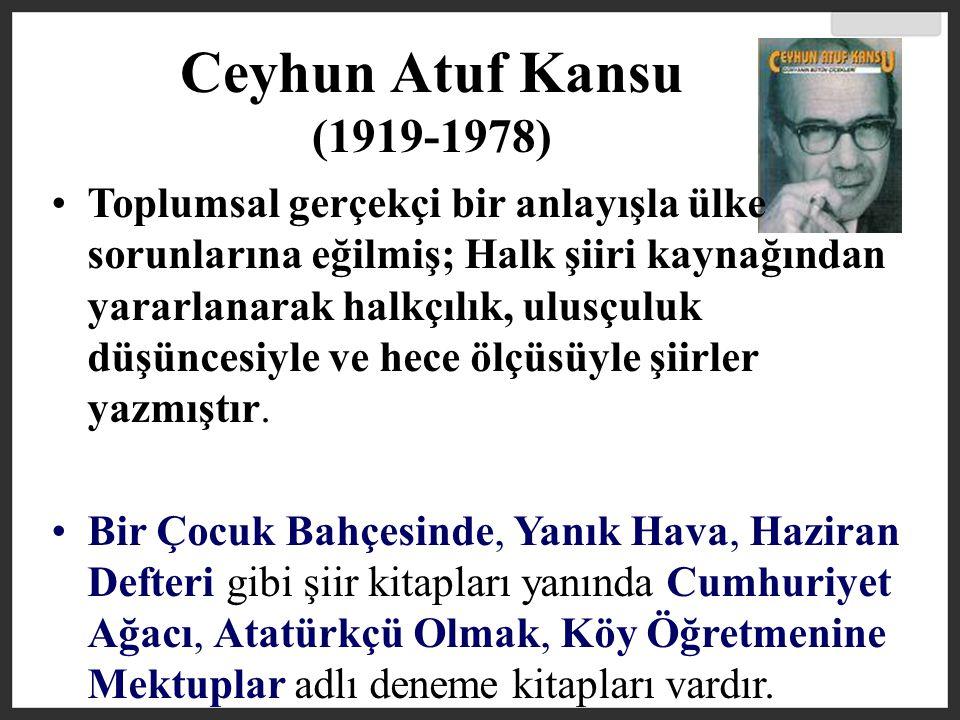 Ceyhun Atuf Kansu (1919-1978)