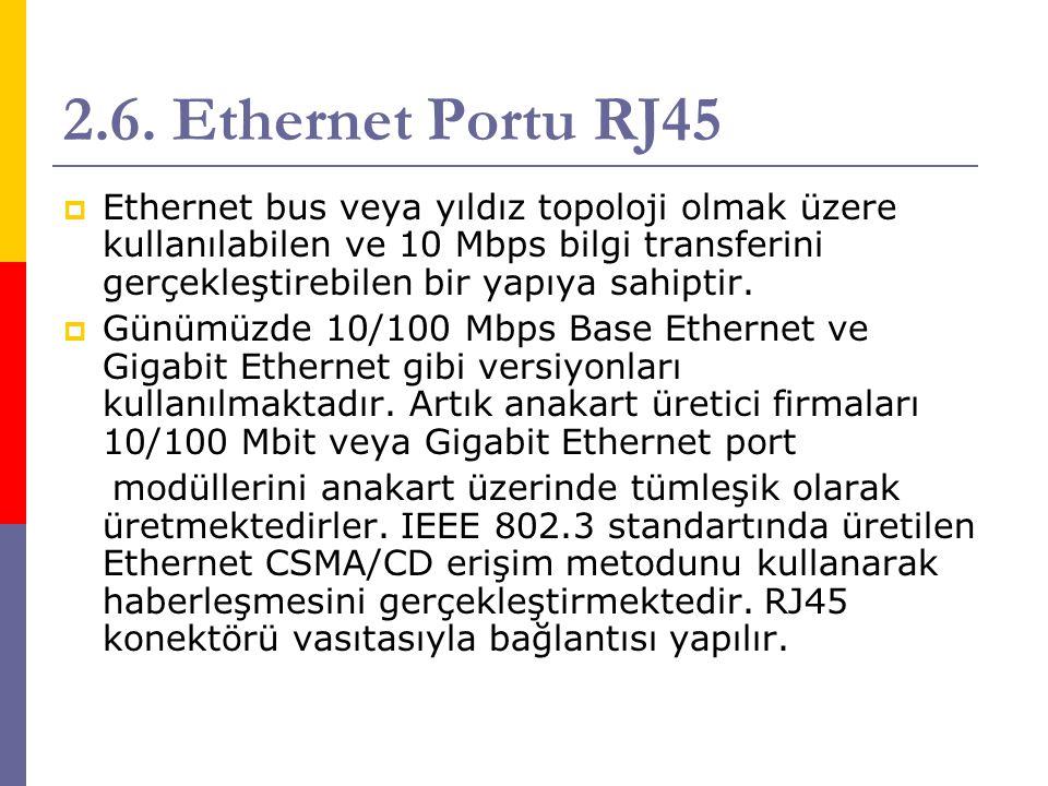 2.6. Ethernet Portu RJ45