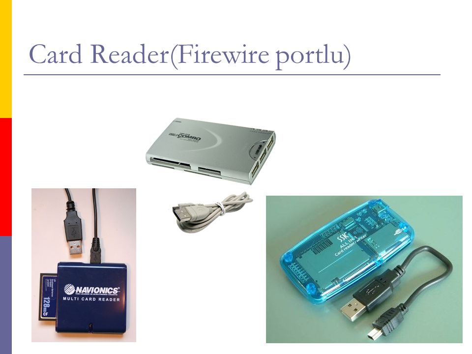 Card Reader(Firewire portlu)