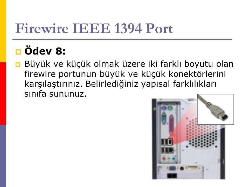 Firewire IEEE 1394 Port Ödev 8: