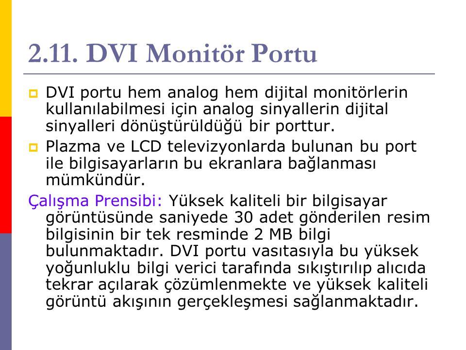 2.11. DVI Monitör Portu
