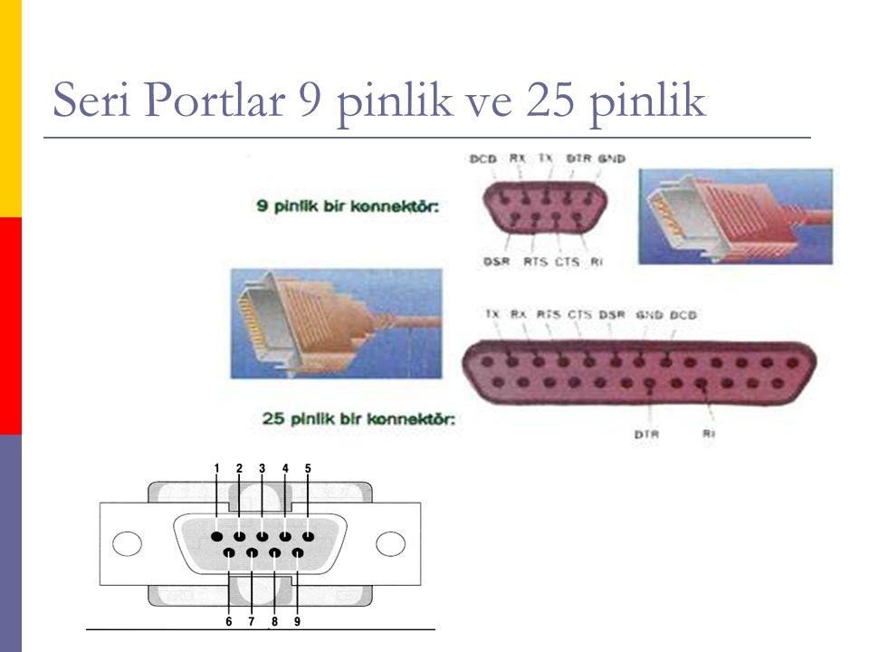 Seri Portlar 9 pinlik ve 25 pinlik