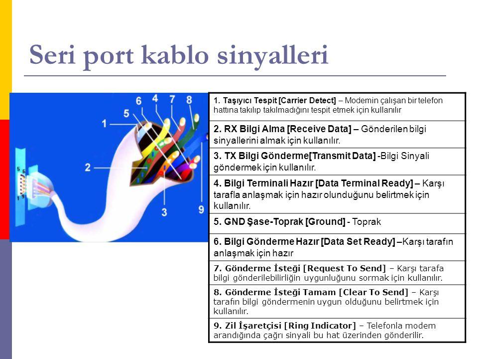 Seri port kablo sinyalleri