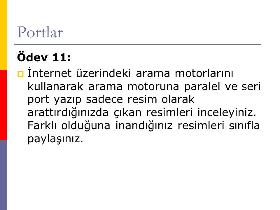 Portlar Ödev 11: