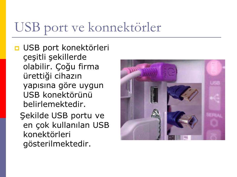 USB port ve konnektörler