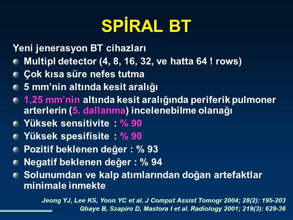 SPİRAL BT Yeni jenerasyon BT cihazları