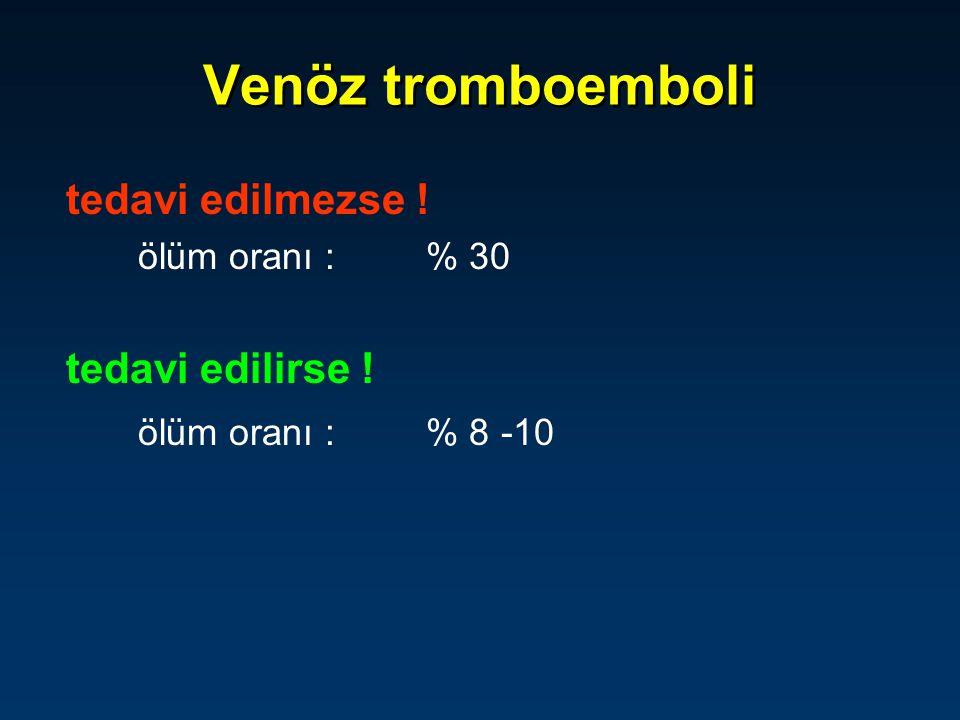 Venöz tromboemboli tedavi edilmezse ! tedavi edilirse !