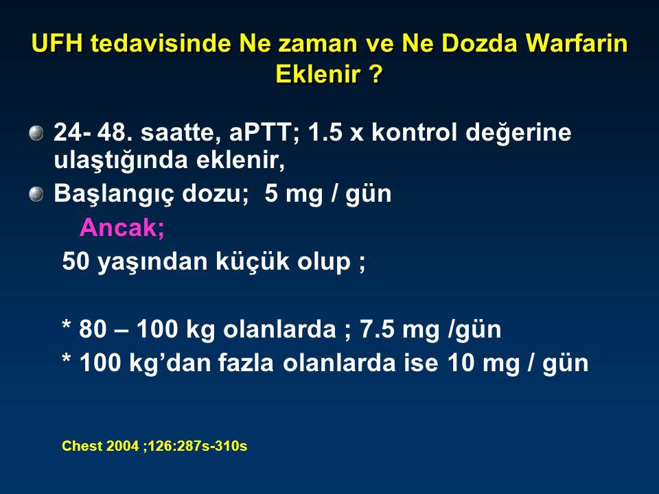 UFH tedavisinde Ne zaman ve Ne Dozda Warfarin Eklenir
