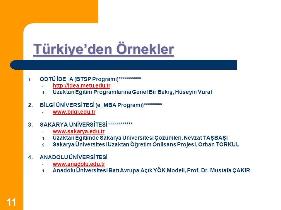 Türkiye'den Örnekler ODTÜ İDE_A (BTSP Programı)***********