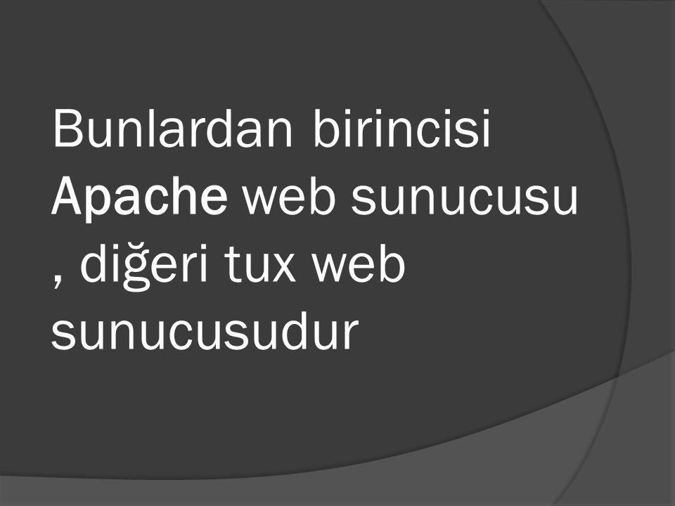 Bunlardan birincisi Apache web sunucusu , diğeri tux web sunucusudur