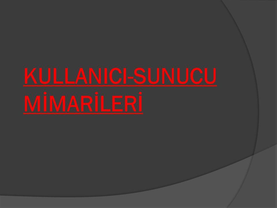 KULLANICI-SUNUCU MİMARİLERİ
