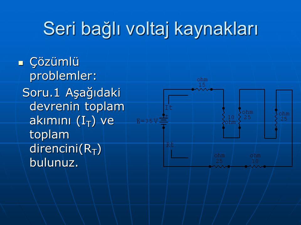 Seri bağlı voltaj kaynakları