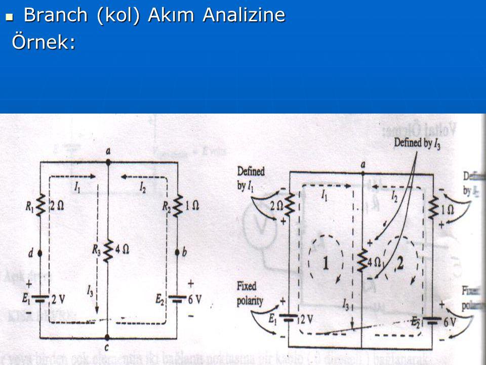 Branch (kol) Akım Analizine