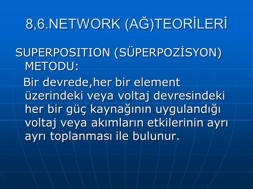 8,6.NETWORK (AĞ)TEORİLERİ