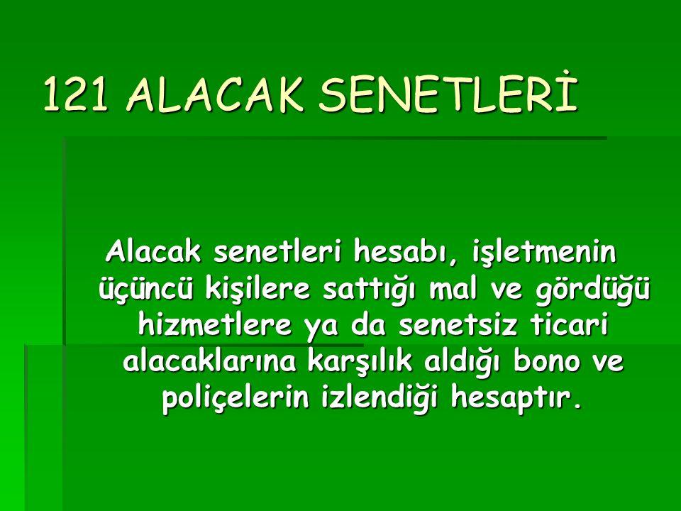 121 ALACAK SENETLERİ