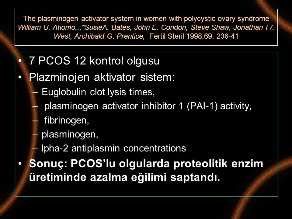 Plazminojen aktivator sistem: