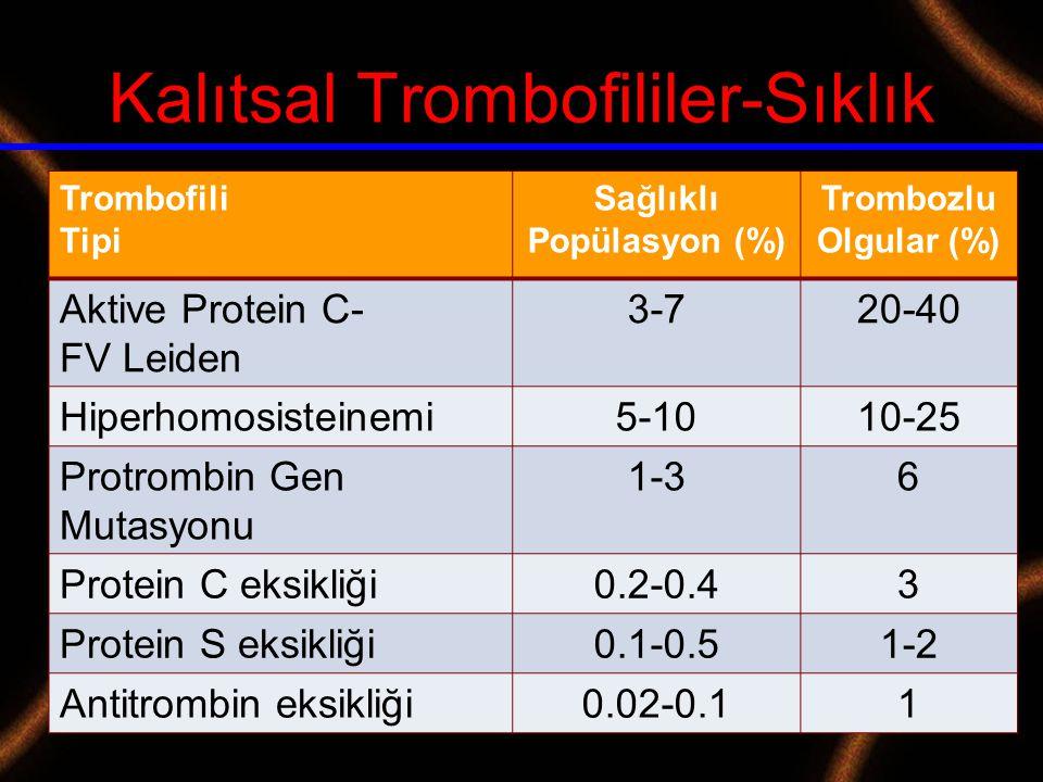 Kalıtsal Trombofililer-Sıklık