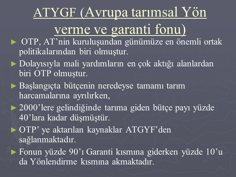 ATYGF (Avrupa tarımsal Yön verme ve garanti fonu)