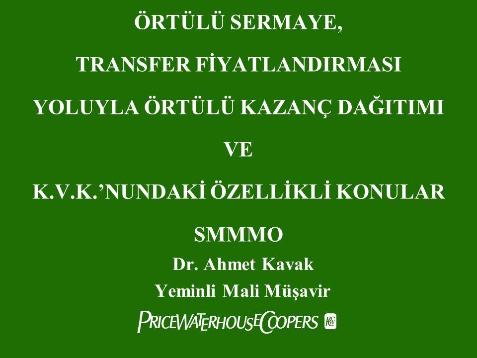 Dr. Ahmet Kavak Yeminli Mali Müşavir