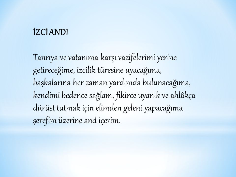 İZCİ ANDI