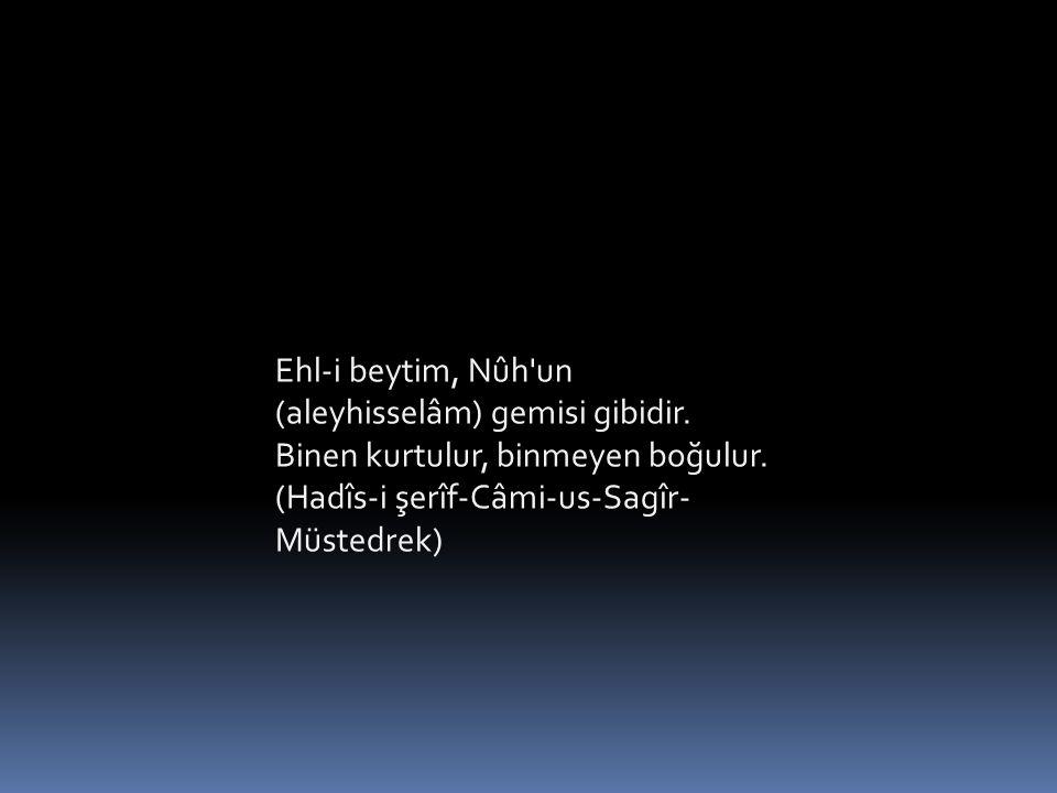 Ehl-i beytim, Nûh un (aleyhisselâm) gemisi gibidir