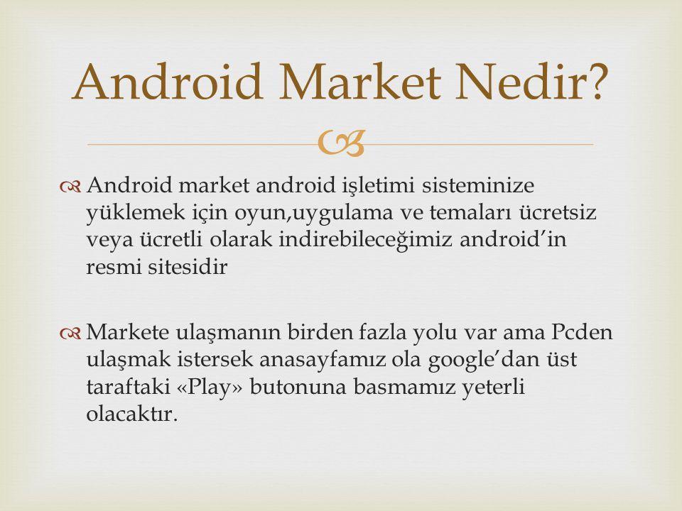 Android Market Nedir