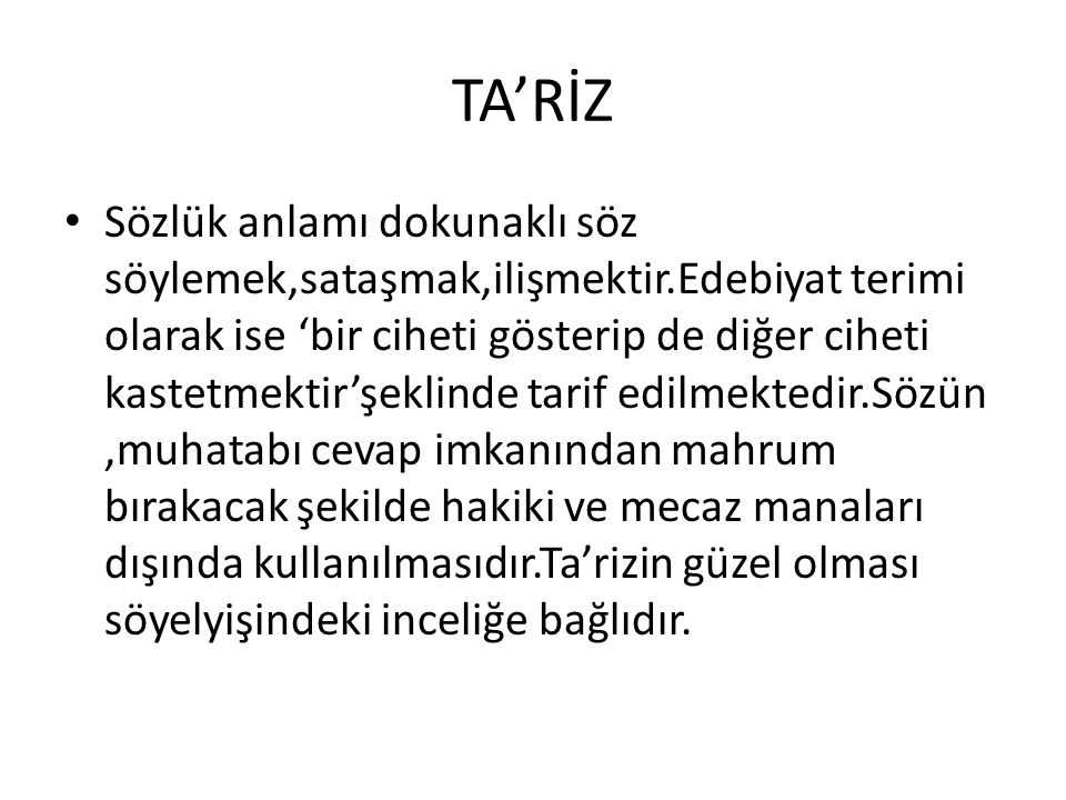 TA'RİZ