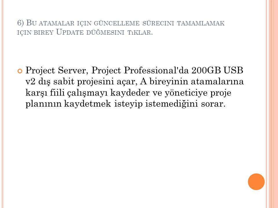 6) Bu atamalar için güncelleme sürecini tamamlamak için birey Update düğmesini tıklar.